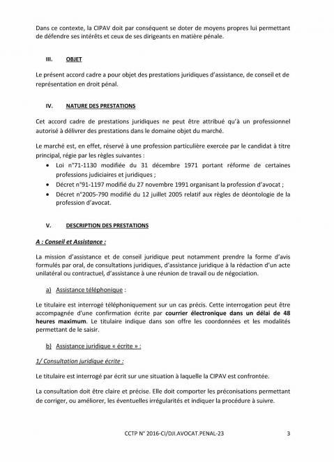 Appel d offre avocat penal 3