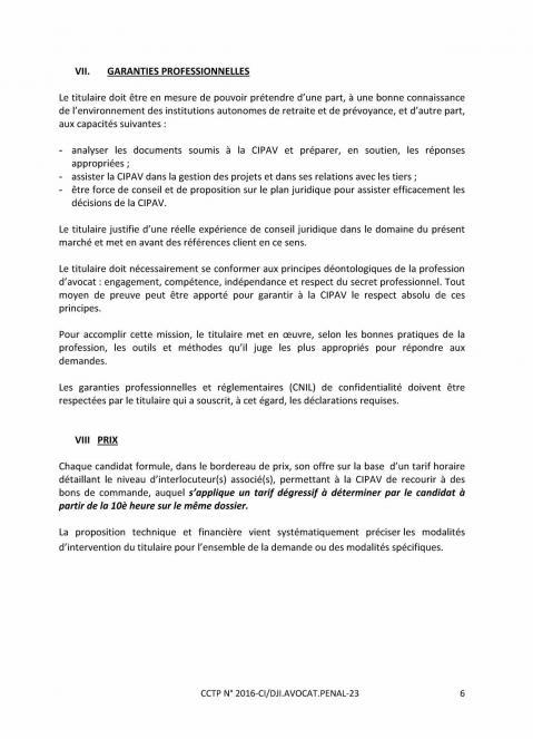 Appel d offre avocat penal 6