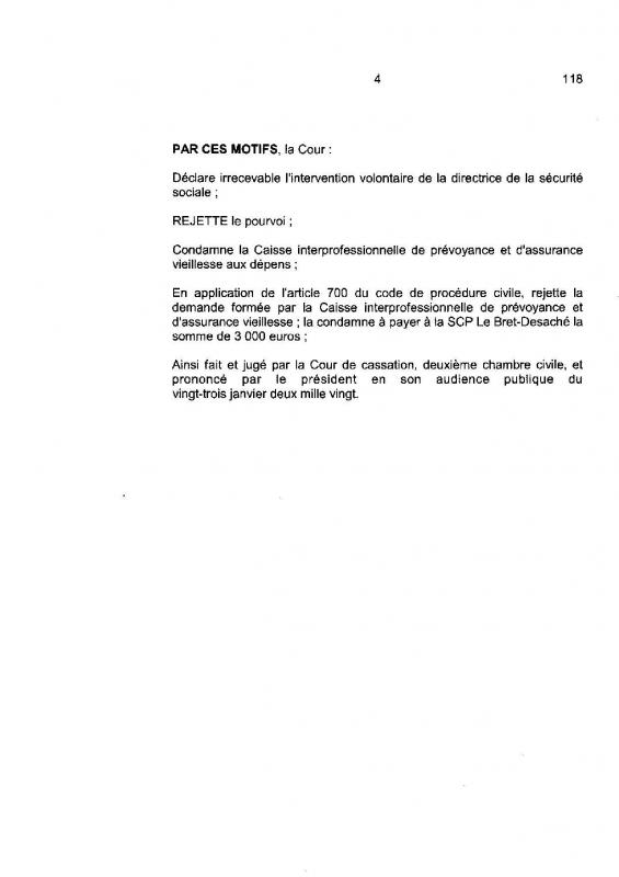 Jugement cour de cassation minoration illegale des points retraite des adherents auto entrepreneurs de la cipav page 004