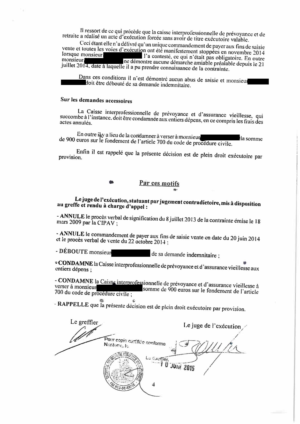 Verdict Tribunal De Nanterre En Faveur D Une Victime Cipav